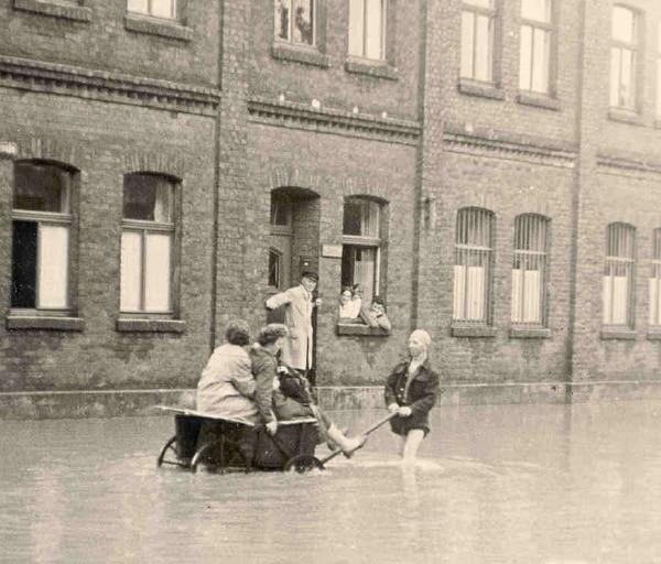 Historisches Foto aus dem Jahr 1957